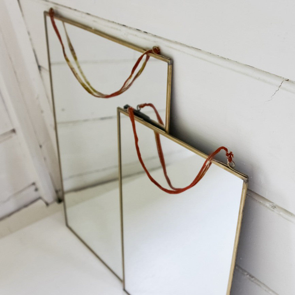 Jo and Co Home Brass Mirror