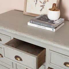 Colonial Grey Poplar Wood 15 Drawer Sideboard