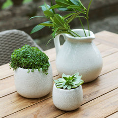 Large White Ceramic Ravello Pot