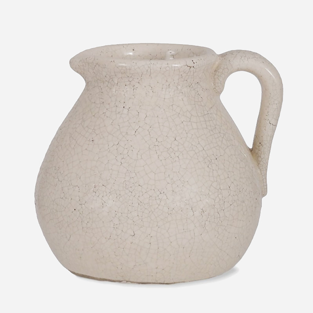 White Ceramic Ravello Flower Jug