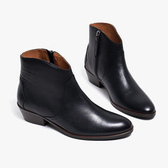Anonymous Copenhagen Fiona Black Leather Ankle Boots