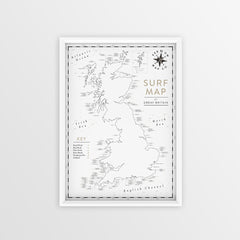 Kernow Map Co UK Surf Map
