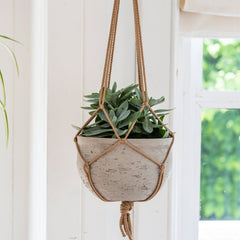 Stone Stratton Hanging Plant Pot