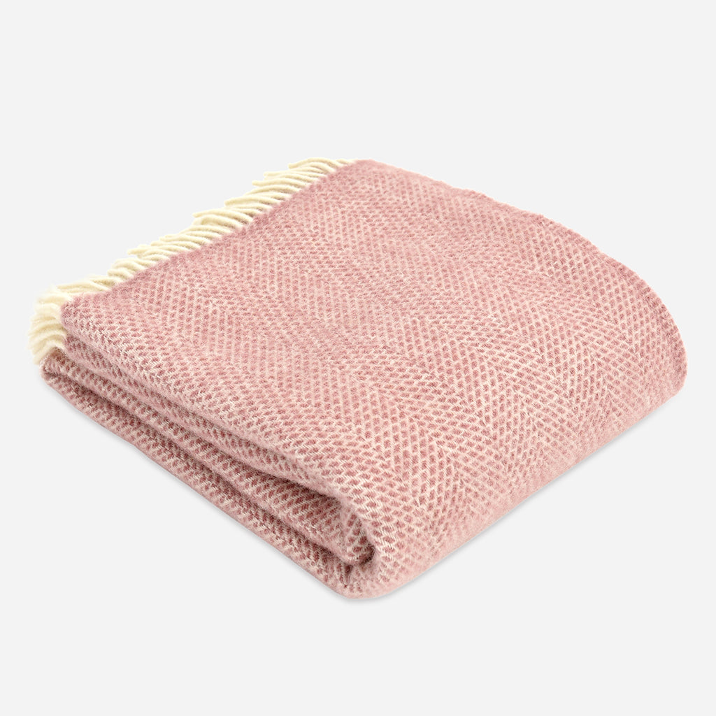 Beehive Throw in Dusky Pink