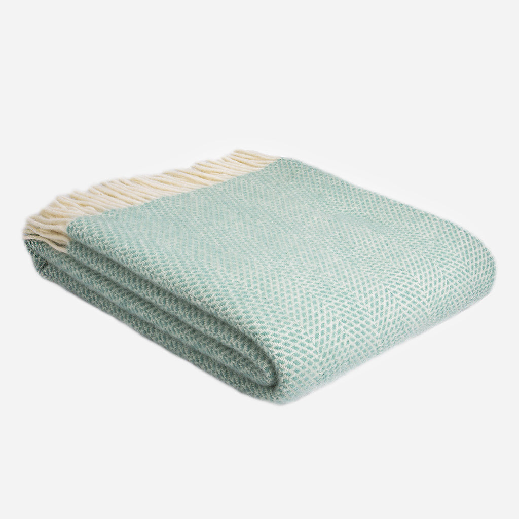 Ocean Blue Beehive Pure New Wool Throw