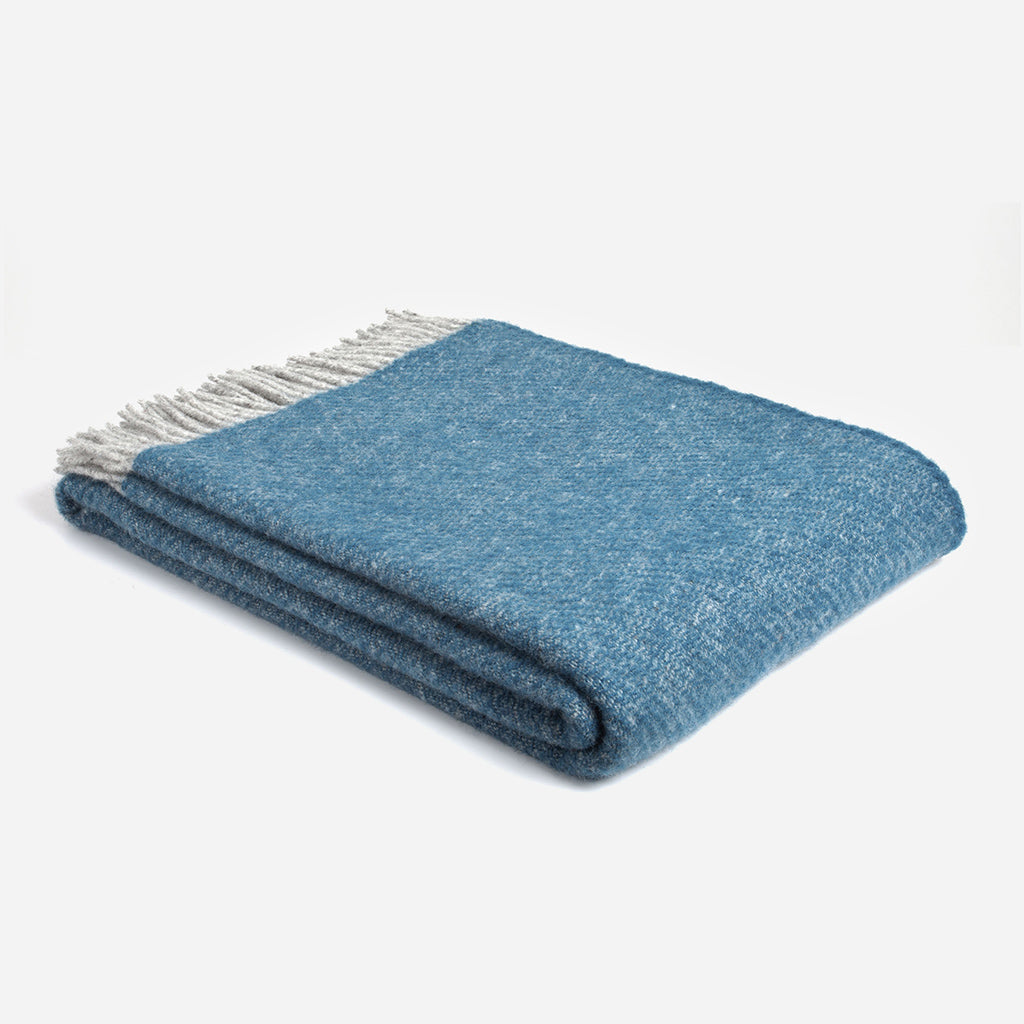 Boa Ink Blue Wool Throw
