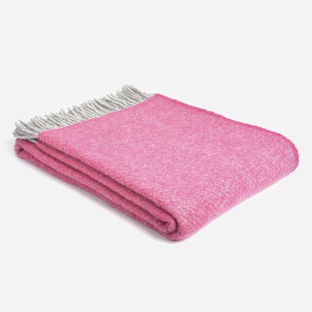 Pink Boa Wool Throw
