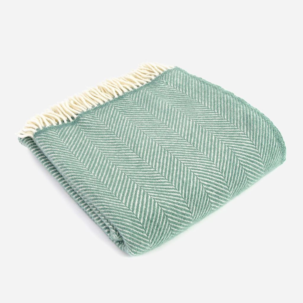 Fishbone Throw in Sea Green