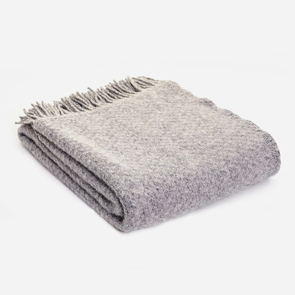Silver Grey Wafer Throw