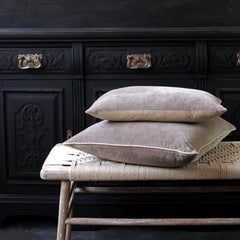 Unari Taupe Velvet Cushion
