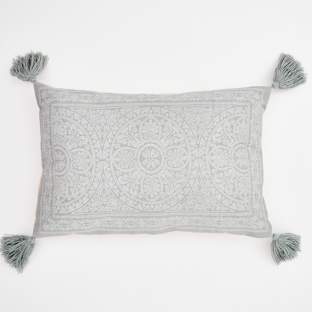 Kas Dove Grey Cushion