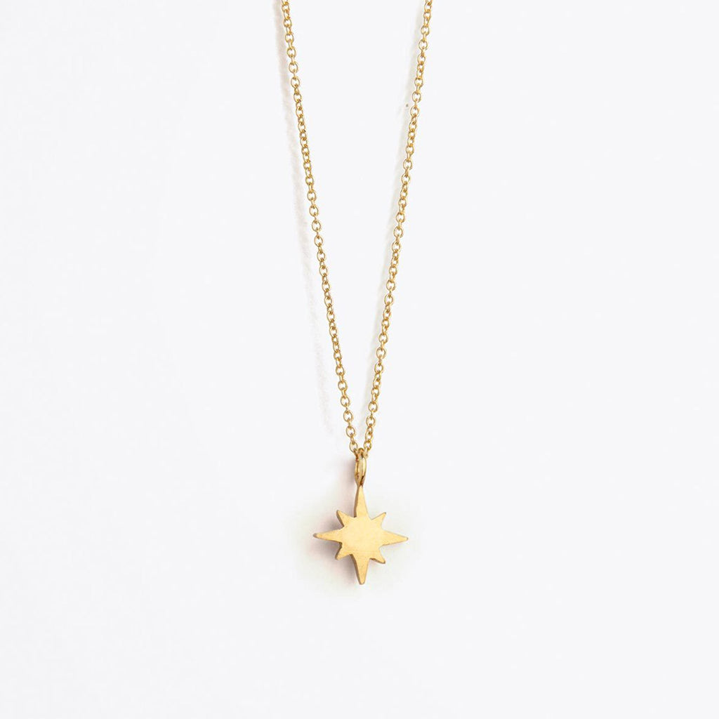 Wanderlust Life Petite Nova Star Fine Gold Chain Necklace