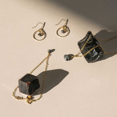 Wanderlust Life Obsidian Petite Vega Orb Earrings