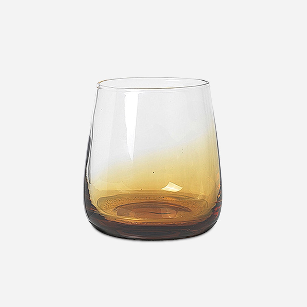 Amber Glass Tumbler - Buy online or shop in the Jo & Co Lifestyle, Home and Furniture store in Wadebridge, North Cornwall, UK