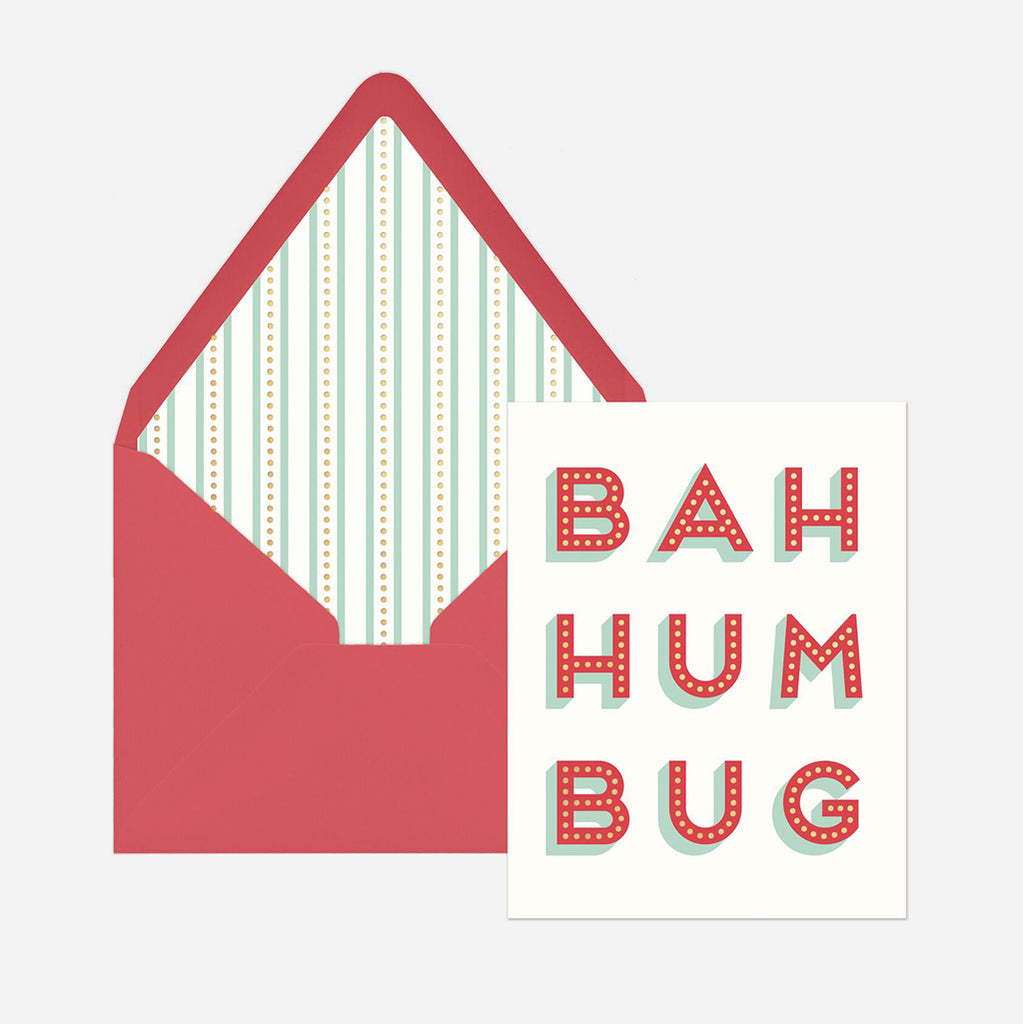 Bah Hum Bug Boxed Christmas Card 12 Pack