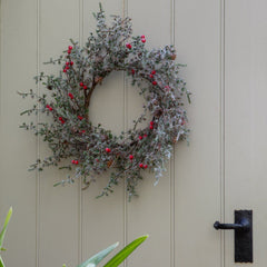 Winter Red Berry Wreath Christmas Decoration
