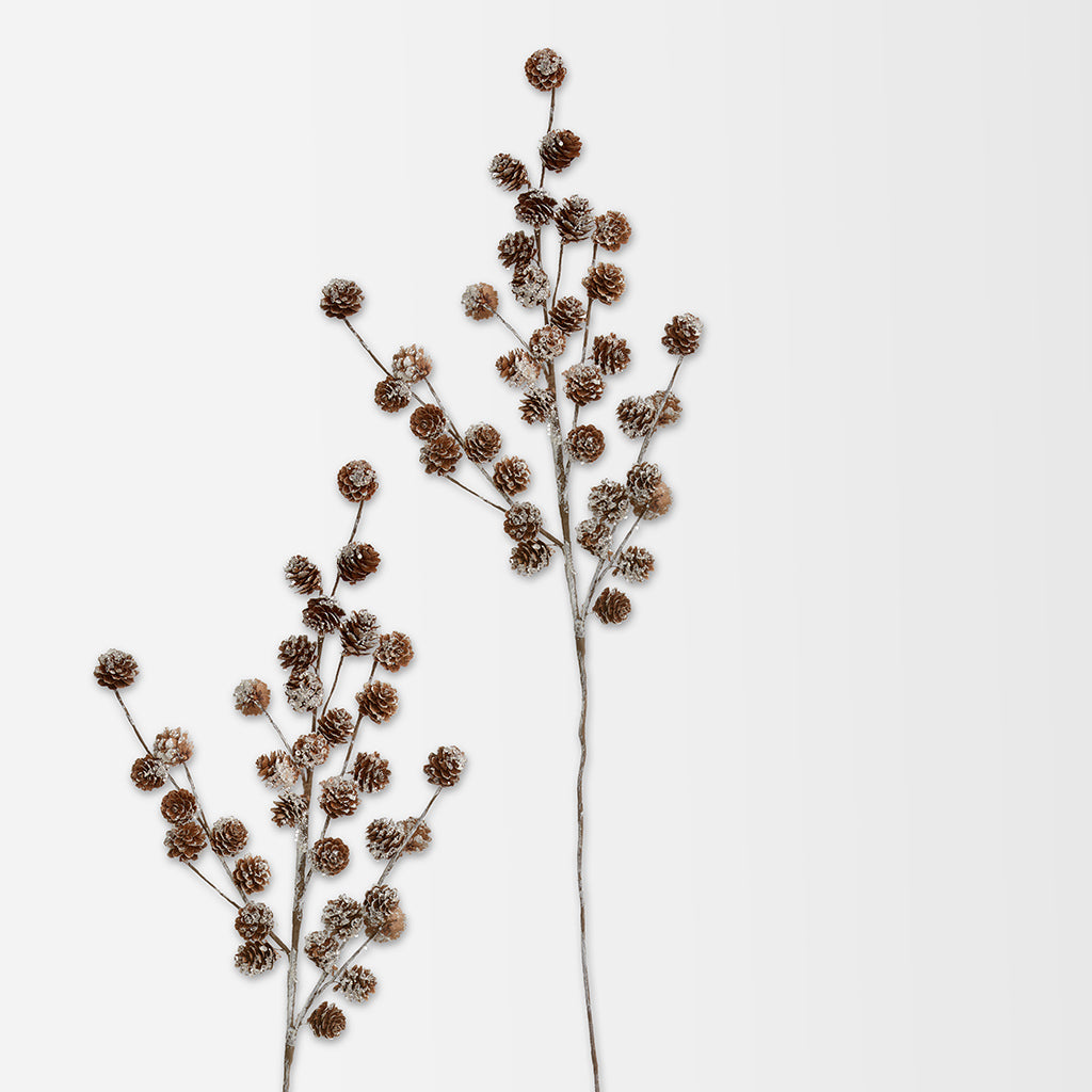 Branch With Pine Cones Faux Botanical Stem