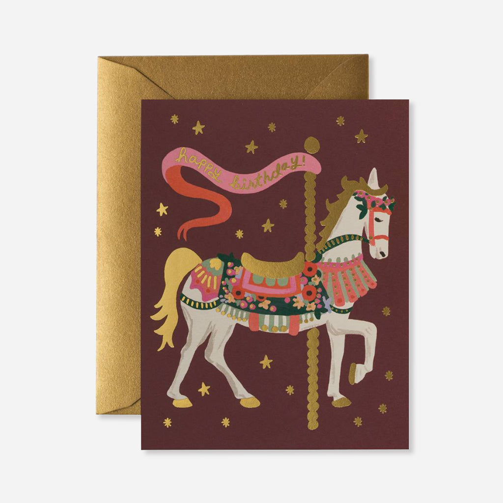 Rifle Paper Co. Carousel Birthday Card