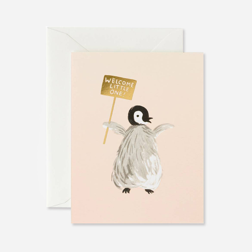 Rifle Paper Co. Penguin New Baby Card