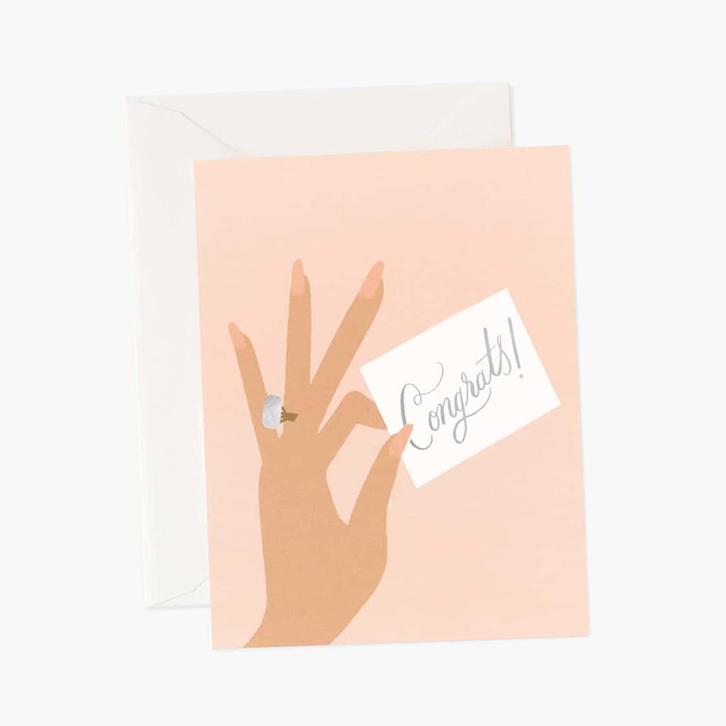 Rifle Paper Co. Congrats Ring Wedding Engagement Card