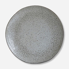 Rustic Blue Grey Dinner Plate