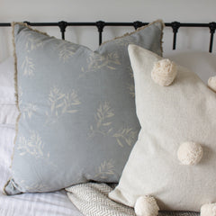 Blue Grey Olive Grove Cushion