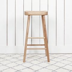 Coach House Weathered Oak Farmhouse Bar Stool - Shop our beautiful furniture collection online and in store at Jo & Co Home, Cornwall, UK