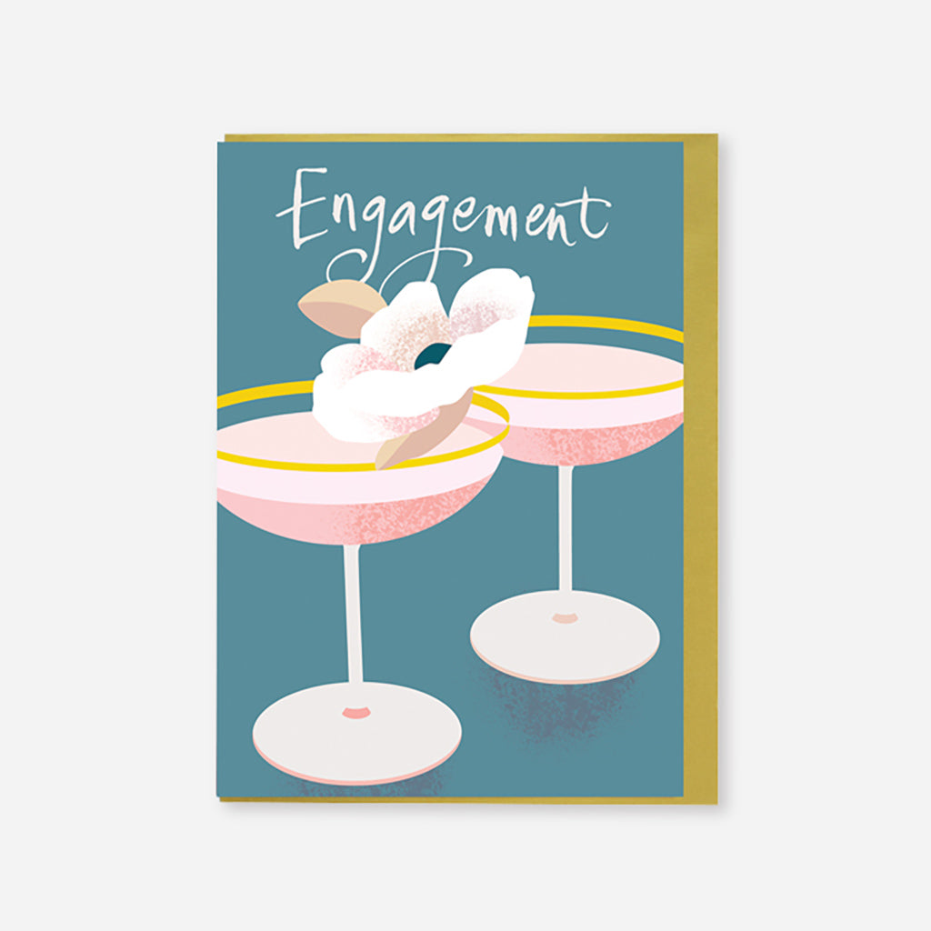 Engagement Cocktail Card