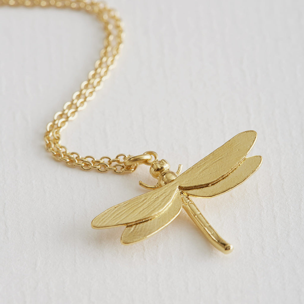 Alex Monroe Gold Plate Dragonfly Necklace