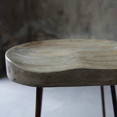 Mango Wood & Rust Loko Stool