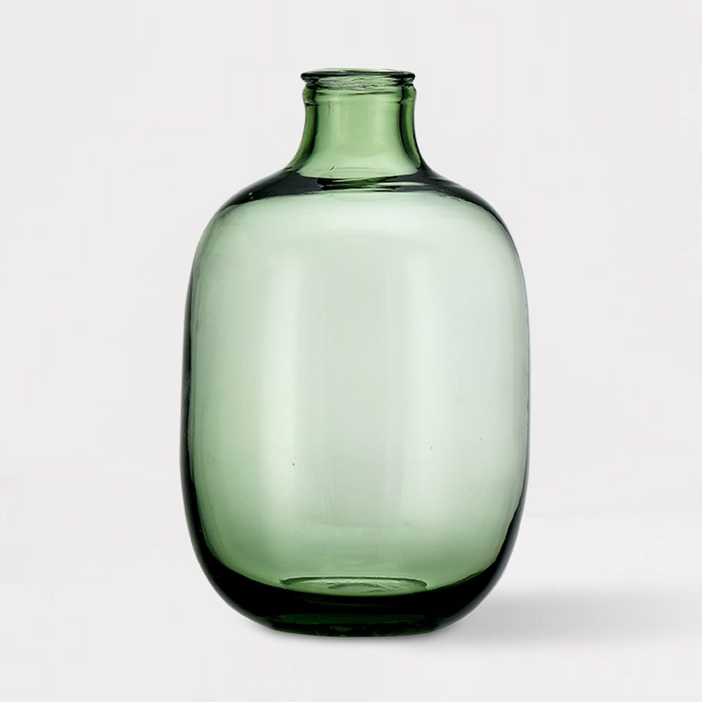 Green Glass Small Vase