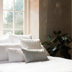 White Olivia Ruffle Cushion