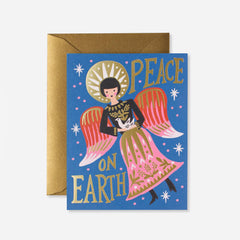 Rifle Paper Co. Peace On Earth Angel Christmas Card