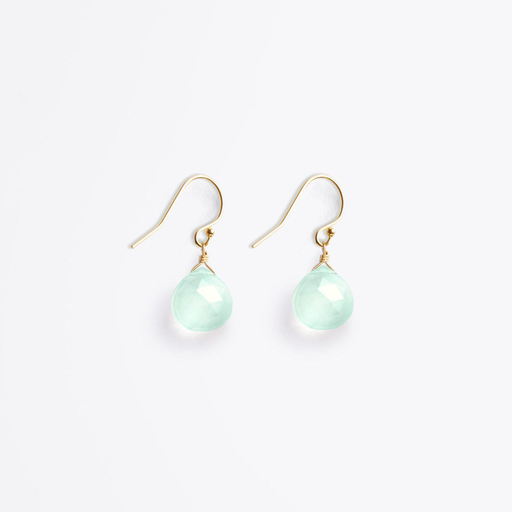 Wanderlust Life Sea Glass Chalcedony Isla Drop Earring