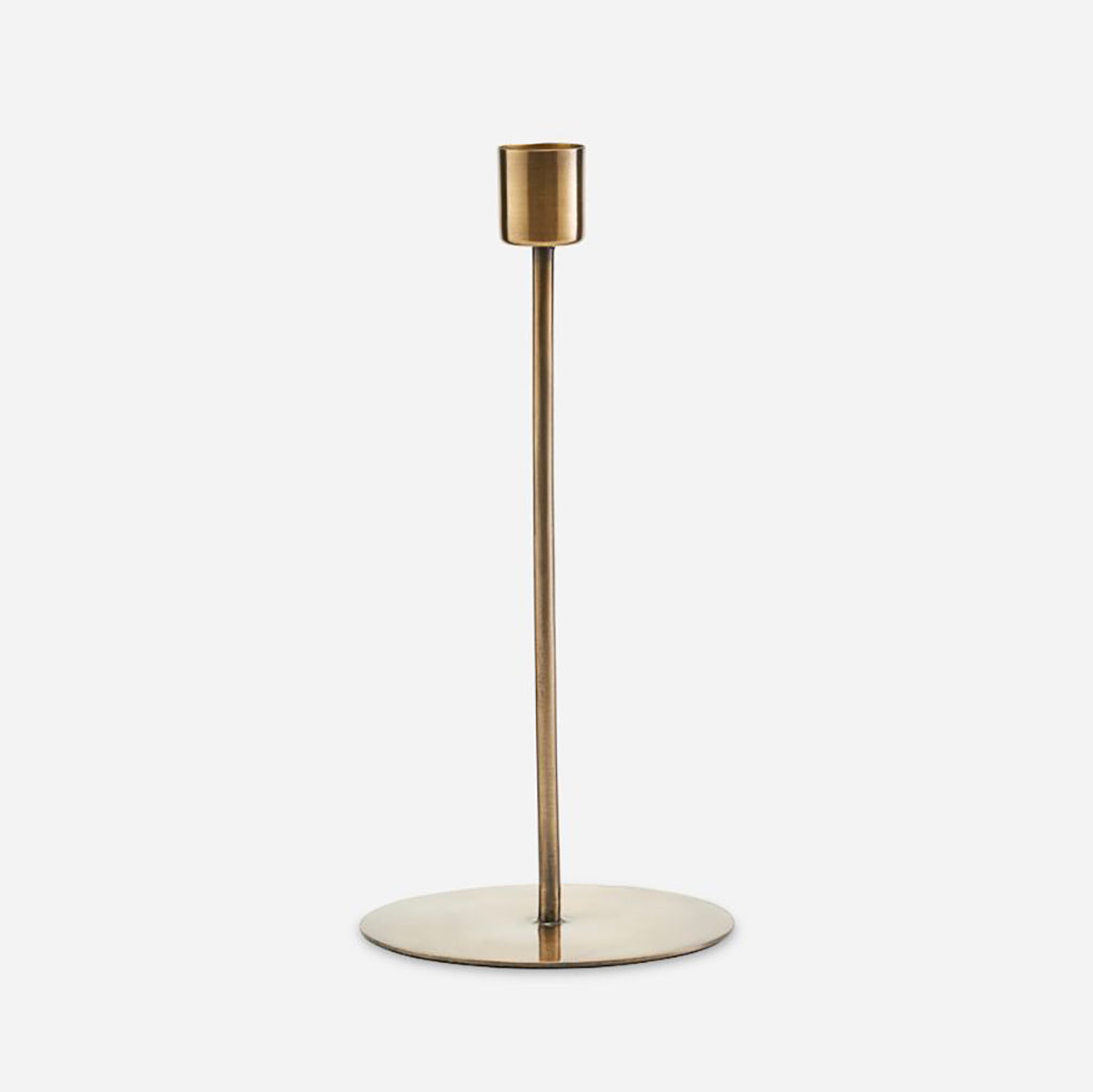 Tall Antique Brass Candle Stand