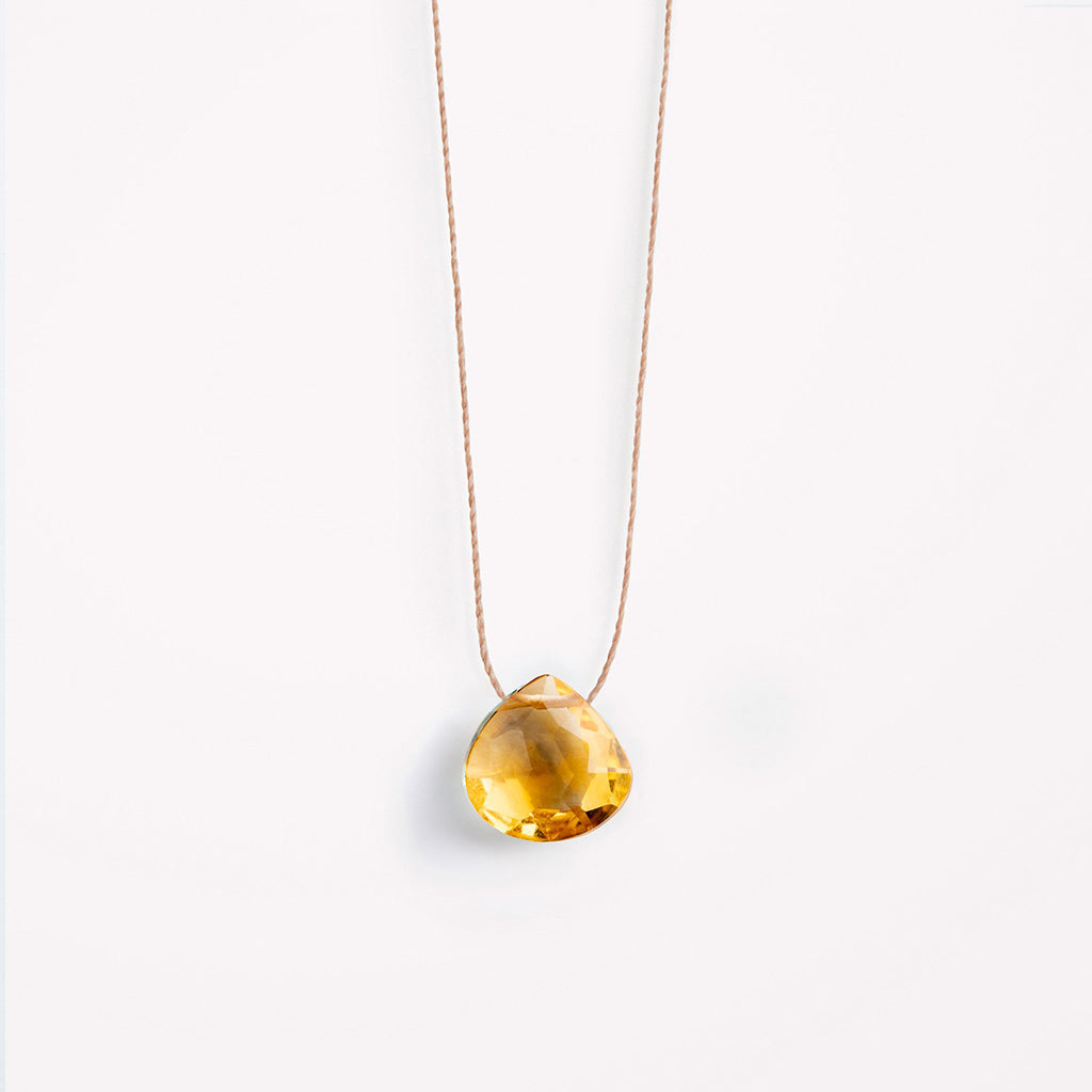 Wanderlust Life Citrine Fine Cord Necklace