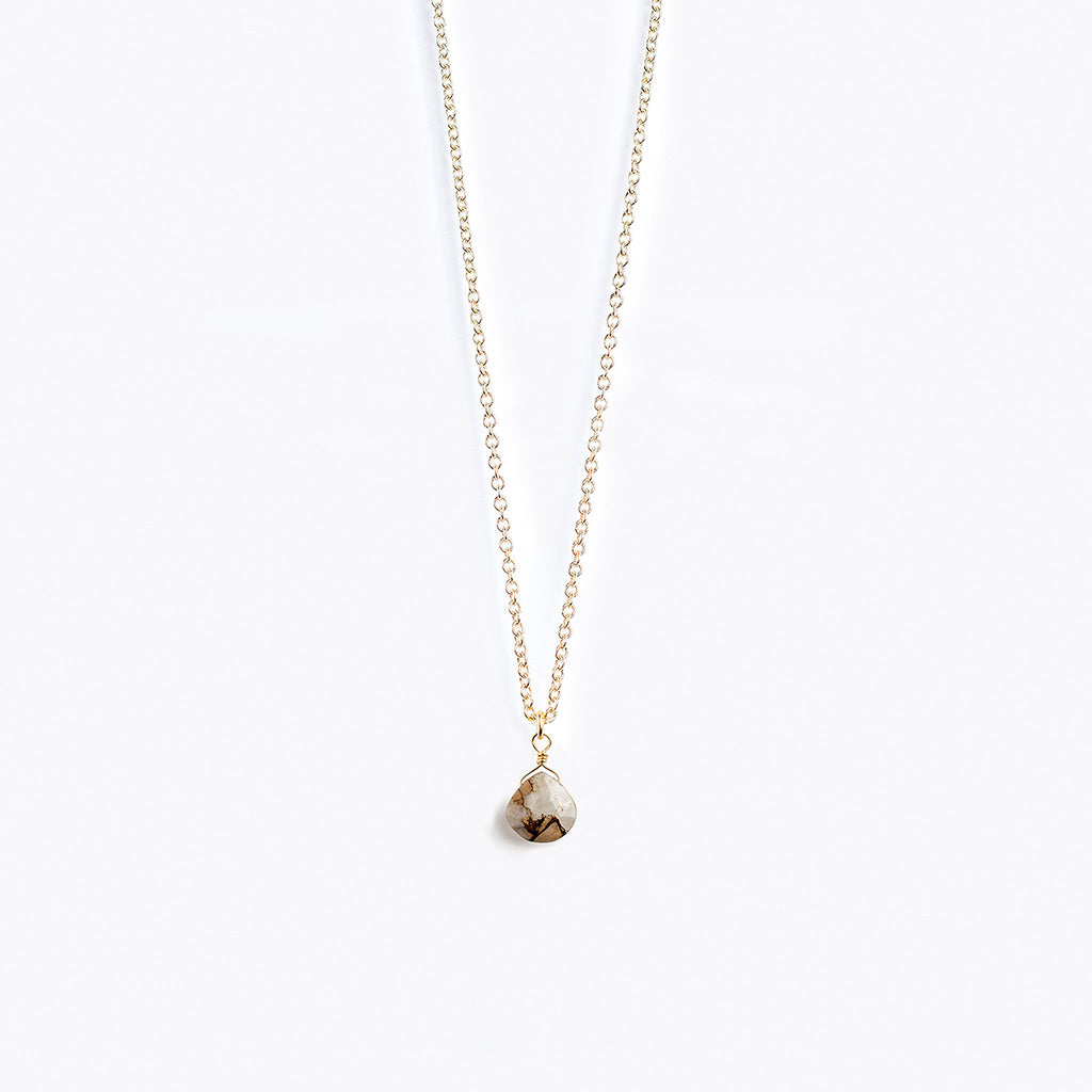 Wanderlust Life Calcite Gold Chain Necklace