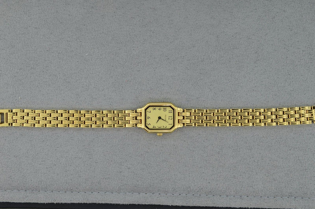 Pulsar Gold Toned Mineral Crystal Ladies Watch 30 ATM WR