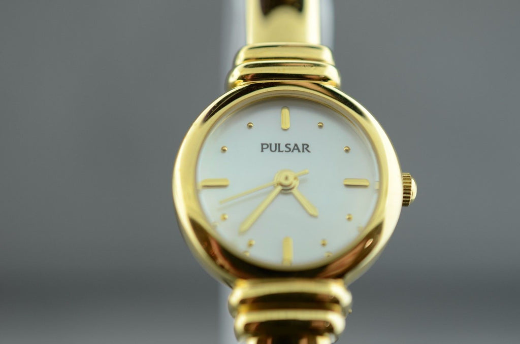 Pulsar Ladies Gold Toned Bangle Watch 30m WR