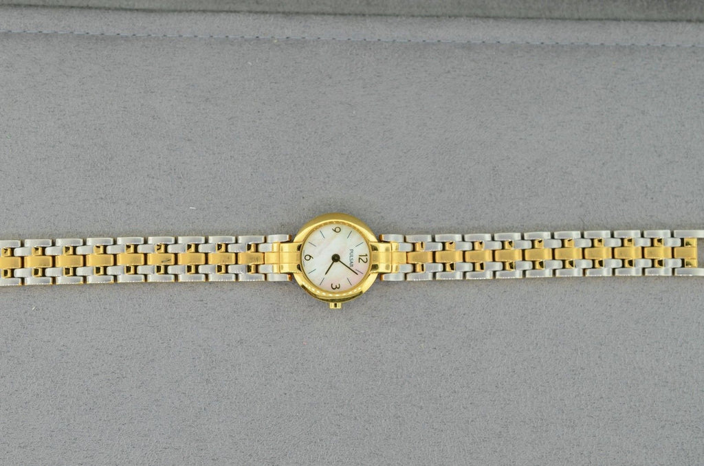 Pulsar Reversible Band Ladies Gold or Two Toned Watch
