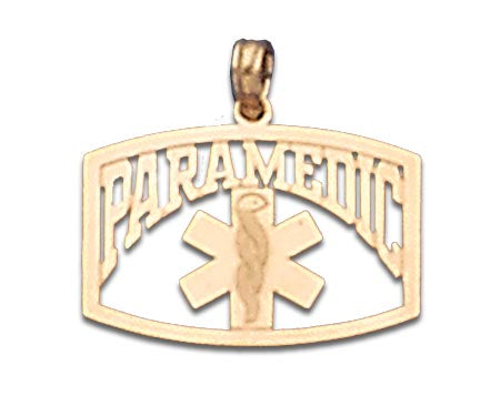 14K Yellow Gold Paramedic Symbol and Talking Charm