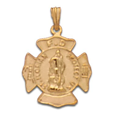 14K Yellow Gold St. Florian Maltese Cross Charm