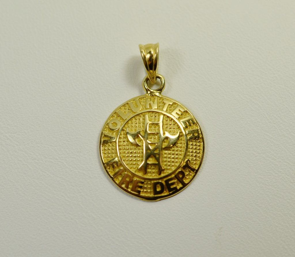 14K Yellow Gold Volunteer Fire Dept. <br>2117</br>