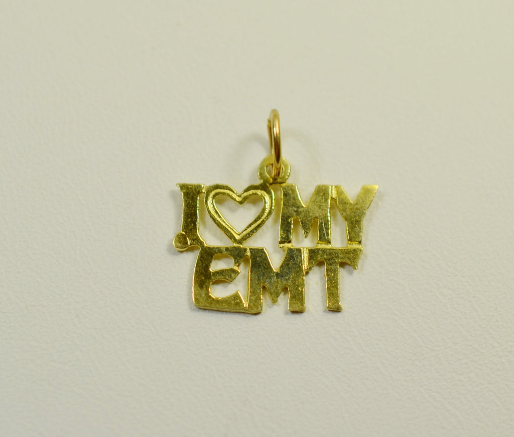 14K Yellow Gold I Love My EMT <br>060311</br>