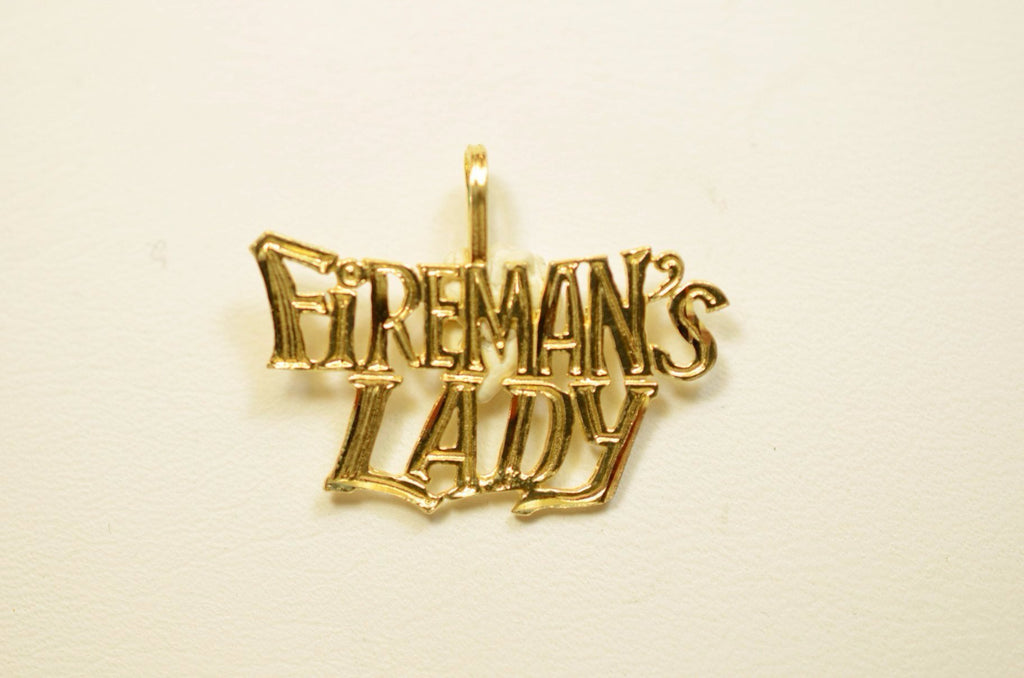 14K Yellow Gold Fireman's Lady <br>1519</br>