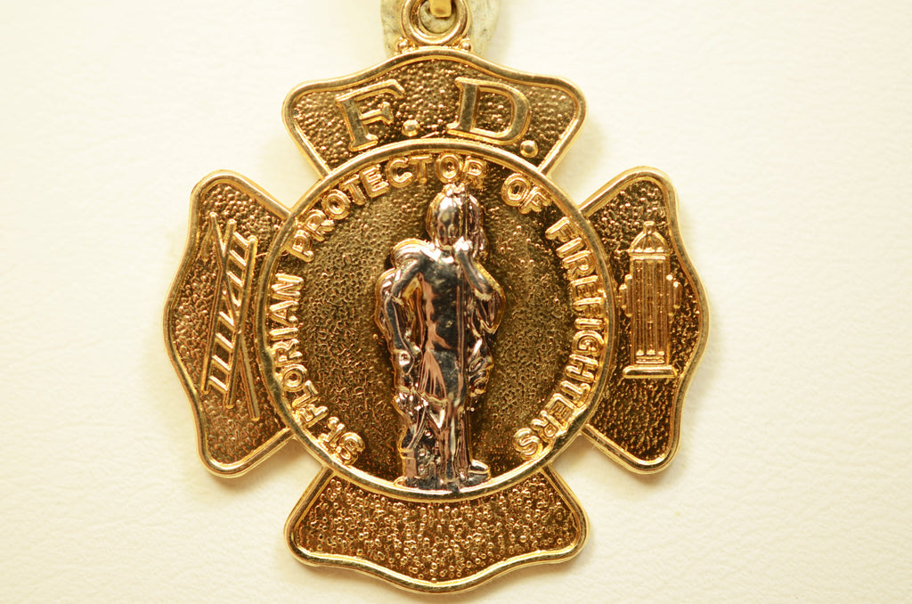 14K Yellow Gold Large St. Florian <br>071402</br>