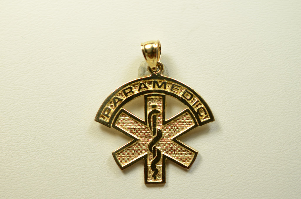 14K Yellow Gold Paramedic Charm <br>1496</br>