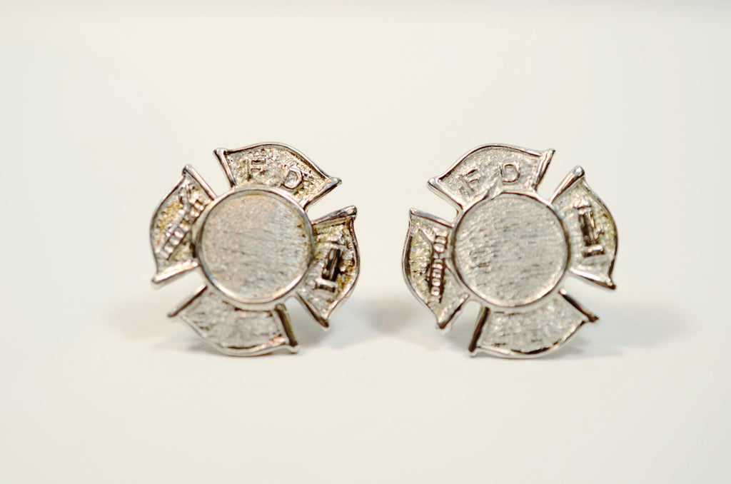Sterling Silver Maltese Cross Earrings Pair