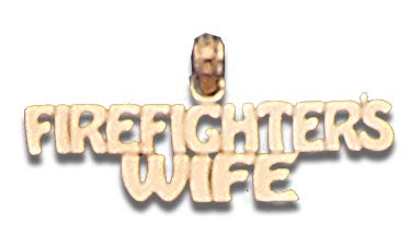 14K Yellow Gold Firefighter's Wife Talking Charm