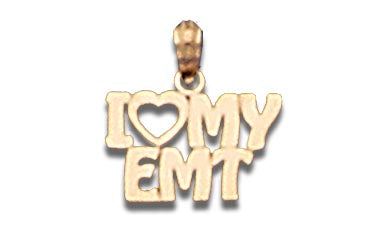 14K Yellow Gold I Heart My EMT Talking Charm